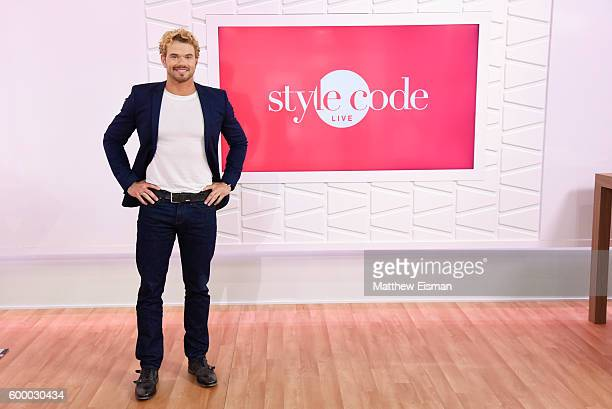 Actor Kellan Lutz poses for a photo during an appearance on Amazon's Style Code Live on September 7 2016 in New York City