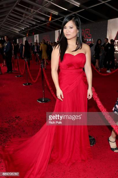 Actor Kelly Marie Tran at Star Wars: The Last Jedi Premiere at The Shrine Auditorium on December 9, 2017 in Los Angeles, California.