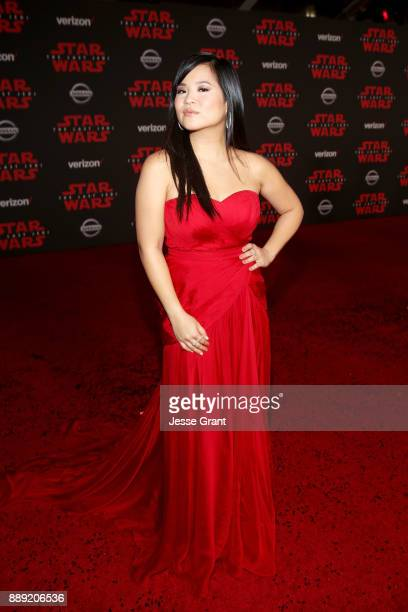 Actor Kelly Marie Tran at the world premiere of Lucasfilm's Star Wars: The Last Jedi at The Shrine Auditorium on December 9, 2017 in Los Angeles,...