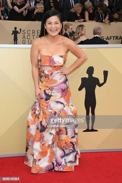 Actor Kelly Marie Tran attends the 24th Annual Screen ActorsGuild Awards at The Shrine Auditorium on January 21 2018 in Los Angeles California