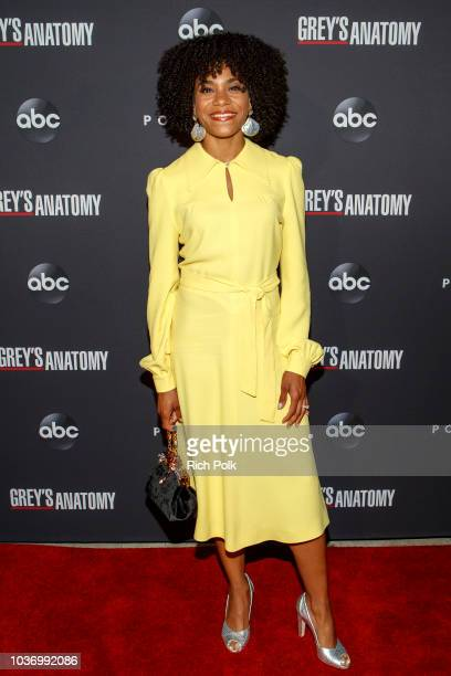 Actor Kelly McCreary attends an event where ABC x POPSUGAR Present ANATOMY OF AN ICON 15 Seasons Of Grey's Anatomy Art Curated By THNK/1994 on...