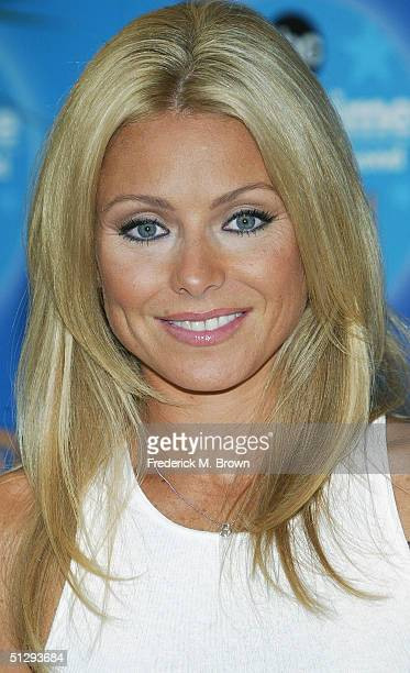 Actor Kelly Ripa attends the ABC Primetime Preview Weekend 2004 at Disneyland on September 11 2004 in Anaheim California