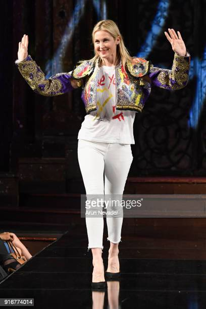 Actor Kelly Rutherford walks the runway during the Domingo Zapata presentation at New York Fashion Week Powered by Art Hearts Fashion NYFW at The...