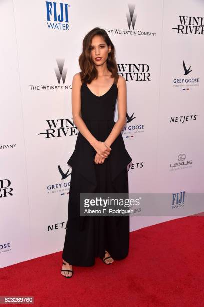 Actor Kelsey Asbille attends the premiere of The Weinstein Company's 'Wind River' at The Theatre at Ace Hotel on July 26 2017 in Los Angeles...