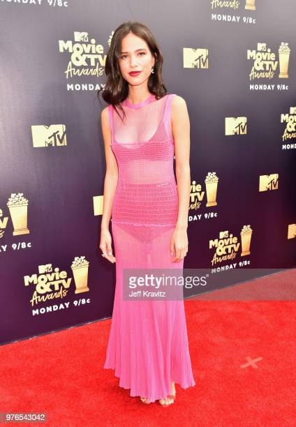 Actor Kelsey Chow attends the 2018 MTV Movie And TV Awards at Barker Hangar on June 16 2018 in Santa Monica California