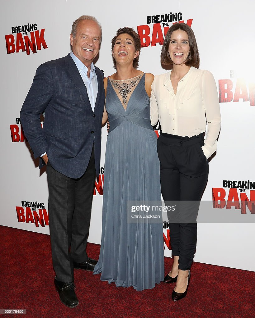 Actor Kelsey Grammer, actress Tamsin Greig and Sonya Cassidy attend the UK Gala Screening of 'Breaking the Bank' at Empire Leicester Square on May 31, 2016 in London, England.