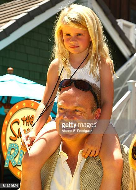 Actor Kelsey Grammer and daughter Mason Grammer arrive at the Launch celebration party for The Simpson's Ride at Universal Studios Hollywood on May...