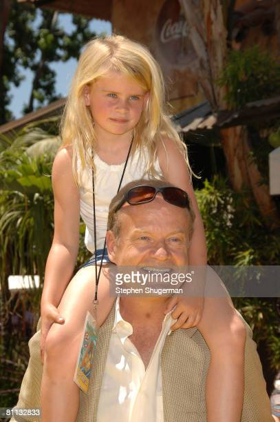 Actor Kelsey Grammer and daughter Mason Grammer attend the opening of The Simpsons Ride at Universal Studios May 17 2008 in Universal City California
