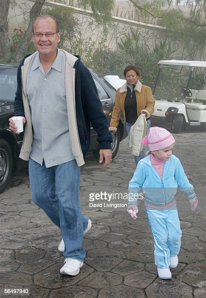 Actor Kelsey Grammer and his daughter Mason Olivia arrive at the home of John Paul DeJoria, CEO and co-founder of John Paul Mitchell Haircare...