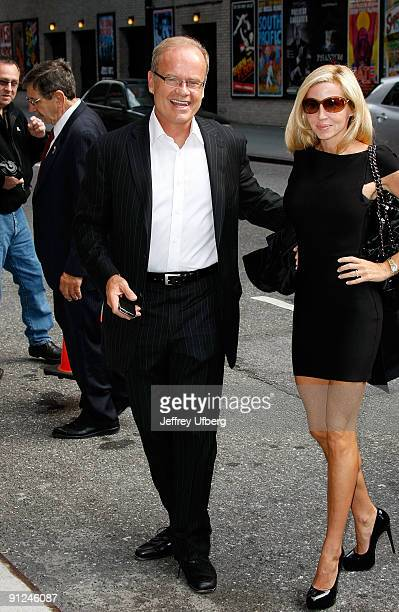 Actor Kelsey Grammer and his wife Camille Grammer visit 'Late Show with David Letterman' at the Ed Sullivan Theater on September 29 2009 in New York...