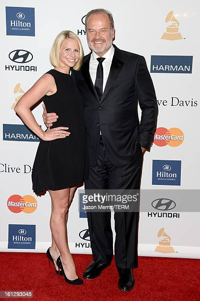 Actor Kelsey Grammer and Kayte Walsh arrive at Clive Davis The Recording Academy's 2013 PreGRAMMY Gala and Salute to Industry Icons honoring Antonio...