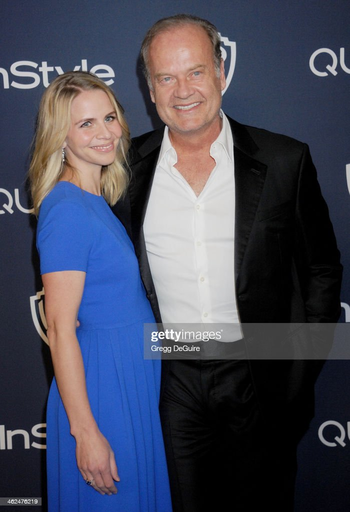 Actor Kelsey Grammer and Kayte Walsh arrive at the 2014 InStyle And Warner Bros. 71st Annual Golden Globe Awards post-party at The Beverly Hilton Hotel on January 12, 2014 in Beverly Hills, California.