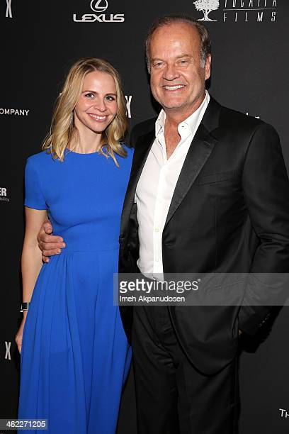 Actor Kelsey Grammer and Kayte Walsh attend The Weinstein Company Netflix's 2014 Golden Globes After Party presented by Bombardier FIJI Water Lexus...