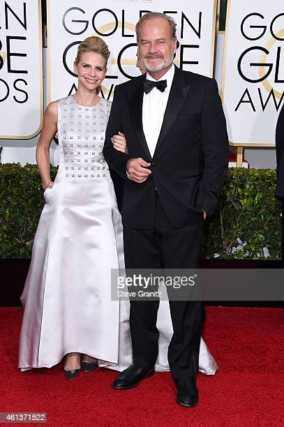 Actor Kelsey Grammer and producer Kayte Walsh attend the 72nd Annual Golden Globe Awards at The Beverly Hilton Hotel on January 11 2015 in Beverly...