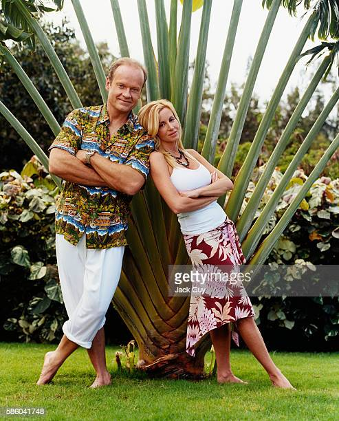 Actor Kelsey Grammer and wife Camille are photographed for InStyle Magazine in 2004 at home in Maui