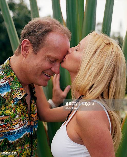 Actor Kelsey Grammer and wife Camille are photographed for InStyle Magazine in 2004 at home in Maui.