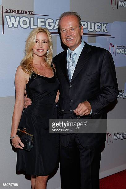 Actor Kelsey Grammer and wife Camille attend the CedarsSinai Medical Center Heart Foundation's event honoring celebrity chef Wolfgang Puck with the...