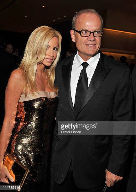Actor Kelsey Grammer and wife Camille Grammer arrives at the 52nd Annual GRAMMY Awards Salute To Icons Honoring Doug Morris held at The Beverly...