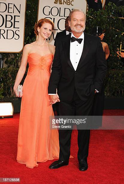 Actor Kelsey Grammer and wife Kayte Walsh arrive at the 69th Annual Golden Globe Awards held at the Beverly Hilton Hotel on January 15 2012 in...