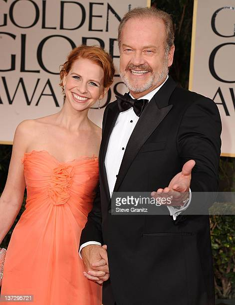 Actor Kelsey Grammer and wife Kayte Walsh arrives at the 69th Annual Golden Globe Awards at The Beverly Hilton hotel on January 15 2012 in Beverly...