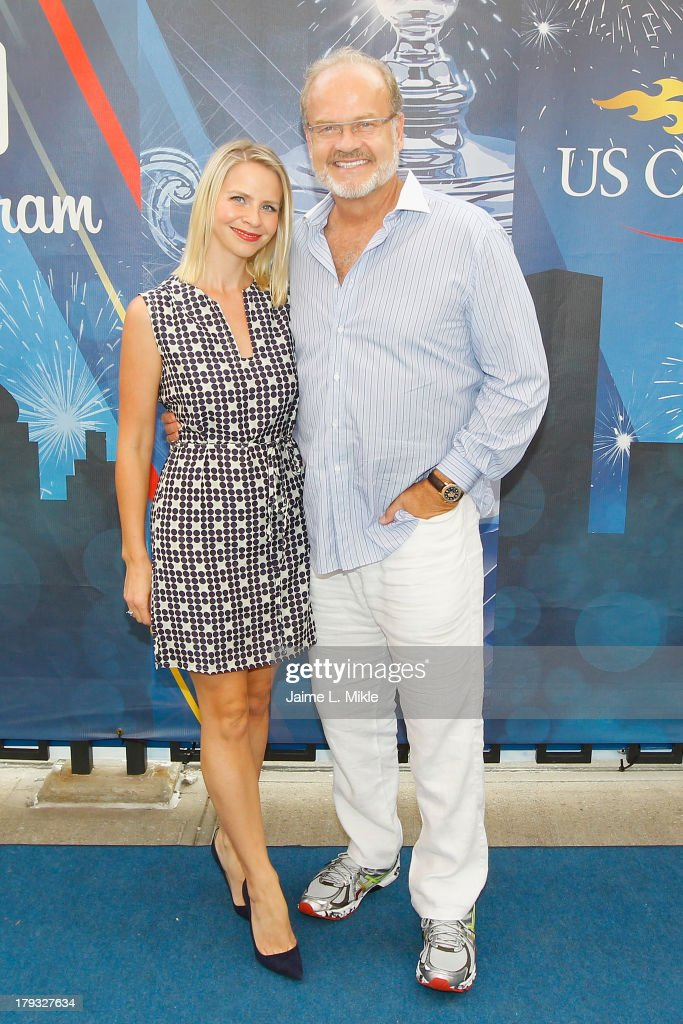 Actor Kelsey Grammer (R) and wife Kayte Walsh (L) attend Day Seven of the 2013 US Open at the USTA Billie Jean King National Tennis Center on September 1, 2013 in New York City.