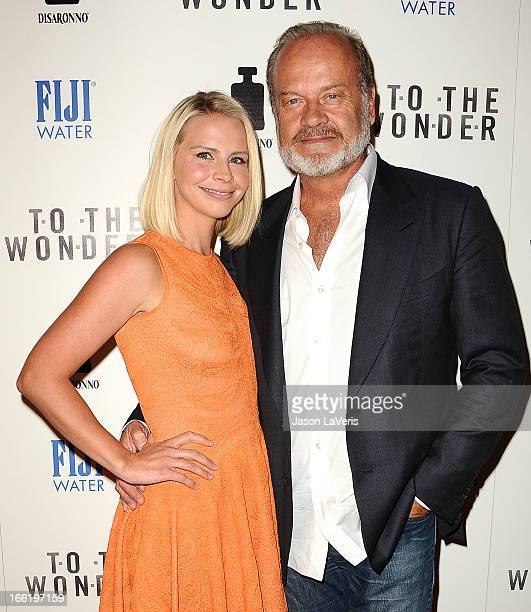Actor Kelsey Grammer and wife Kayte Walsh attend the premiere of To The Wonder at Pacific Design Center on April 9 2013 in West Hollywood California