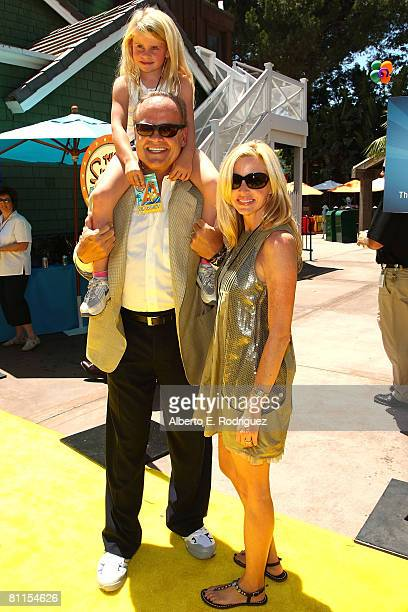 Actor Kelsey Grammer Camile Grammer and daughter Mason Grammer arrive at the Launch celebration party for The Simpson's Ride at Universal Studios...