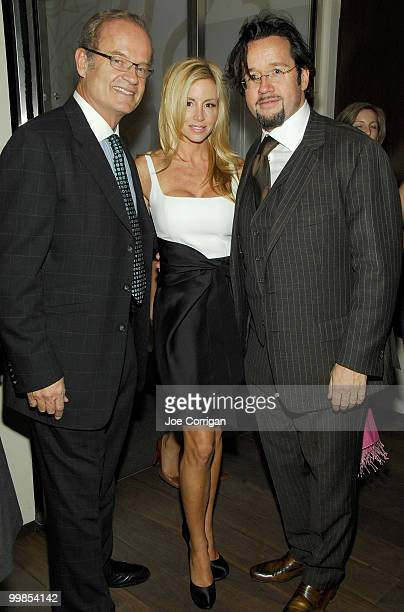 Actor Kelsey Grammer his wife model Camille Donatacci and FrancoisHenry Bennahmias President CEO Audemars Piguet North America attend Audemars Piguet...