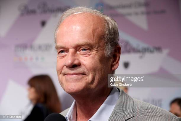 Actor Kelsey Grammer is interviewed during the 24th annual Keep Memory Alive Power of Love Gala benefit for the Cleveland Clinic Lou Ruvo Center for...