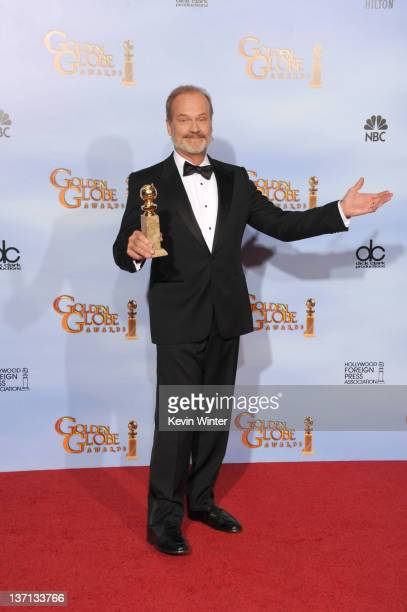Actor Kelsey Grammer poses in the press room with the Best Performance by an Actor in a Television Series Drama award for 'Boss' at the 69th Annual...