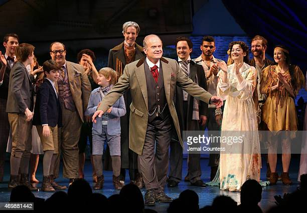 Actor Kelsey Grammer takes a bow at curtain call for the opening night performance of Finding Neverland at the LuntFontanne Theatre on April 15 2015...