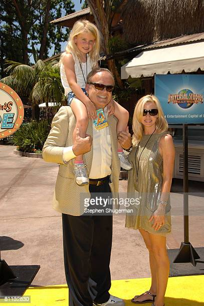 Actor Kelsey Grammer wife Camille Grammer and daughter Mason Grammer attend the opening of The Simpsons Ride at Universal Studios May 17 2008 in...