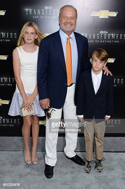 """Actor Kelsey Grammer with children Jude and Mason attend the New York Premiere of """"Transformers: Age Of Extinction"""" at the Ziegfeld Theatre on June..."""