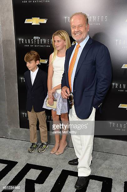 Actor Kelsey Grammer with children Mason and Jude attend the New York Premiere of Transformers Age Of Extinction at the Ziegfeld Theatre on June 25...