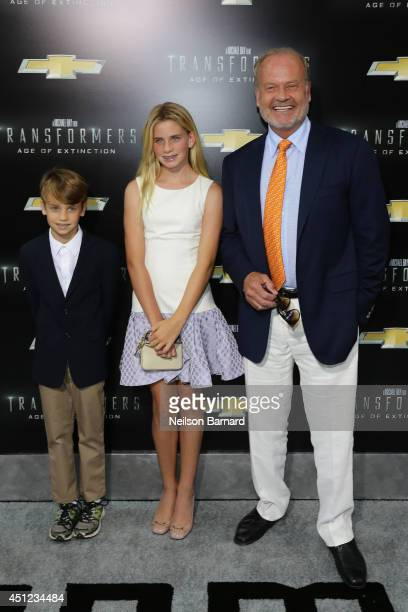 """Actor Kelsey Grammer with children Mason and Jude attend the New York Premiere of """"Transformers: Age Of Extinction"""" at the Ziegfeld Theatre on June..."""