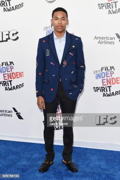 Actor Kelvin Harrison Jr attends the 2018 Film Independent Spirit Awards on March 3 2018 in Santa Monica California