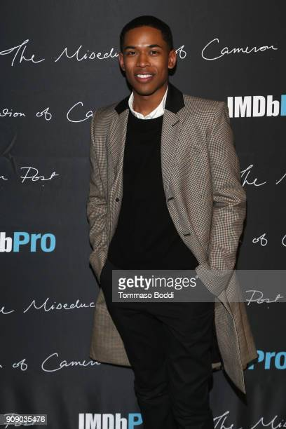 Actor Kelvin Harrison Jr attends The IMDbPro Party to Celebrate the Premiere of 'The Miseducation of Cameron Post' and Launch of IMDbPro's New iPhone...