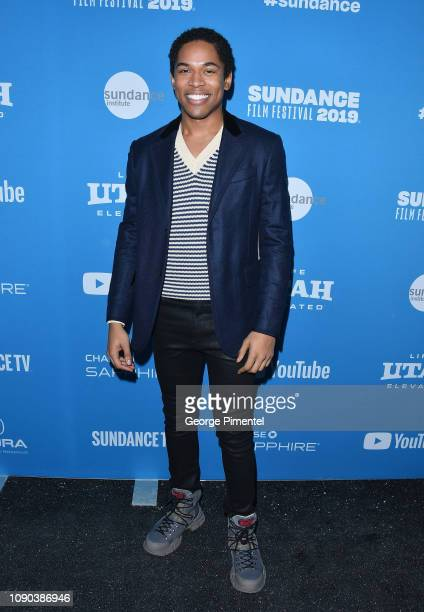 Actor Kelvin Harrison Jr attends the Luce Premiere during the 2019 Sundance Film Festival at Library Center Theater on January 27 2019 in Park City...