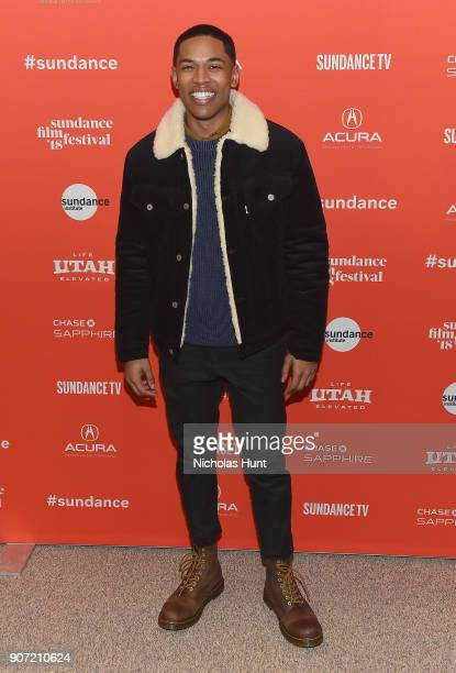 Actor Kelvin Harrison Jr attends the Of Monsters and Men Premiere during the 2018 Sundance Film Festival at Eccles Center Theatre on January 19 2018...