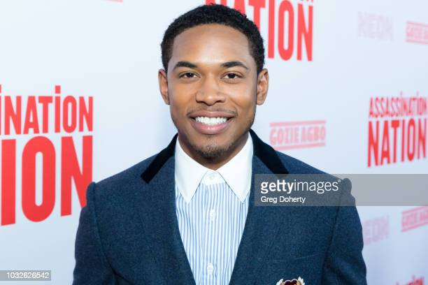 Actor Kelvin Harrison Jr attends the Premiere Of Neon And Refinery29's Assassination Nation at ArcLight Hollywood on September 12 2018 in Hollywood...