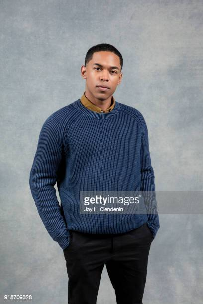 Actor Kelvin Harrison Jr from the film 'Monsters and Men' is photographed for Los Angeles Times on January 19 2018 in the LA Times Studio at Chase...