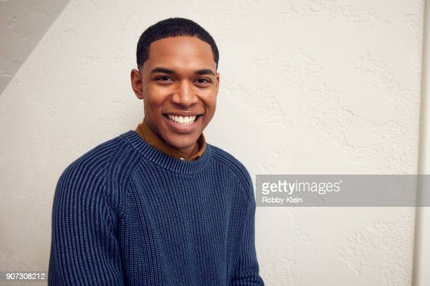 Actor Kelvin Harrison Jr from the film 'Monsters And Men' poses for a portrait in the YouTube x Getty Images Portrait Studio at 2018 Sundance Film...