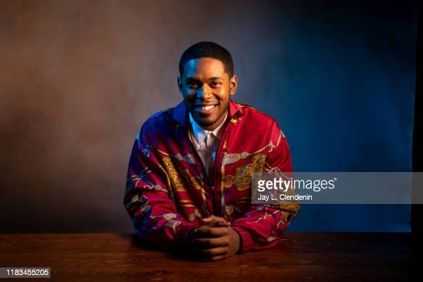 Actor Kelvin Harrison Jr from 'Waves' is photographed for Los Angeles Times on September 10 2019 at the Toronto International Film Festival in...
