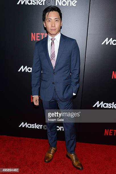 "Actor Kelvin Lu attends the ""Master Of None"" New York premiere at AMC Loews 19th Street East 6 Theater on November 5, 2015 in New York City."