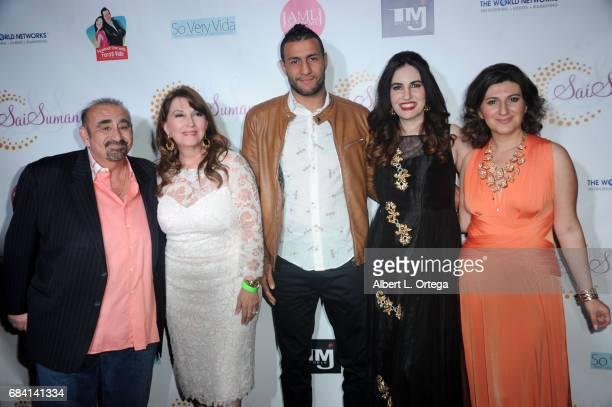 Actor Ken Davitian actress Mary Apick fighter Mehdi Baghdad actress Vida Ghaffari and CEO of World Networks Lousine Karibianat Sai Suman's Official...