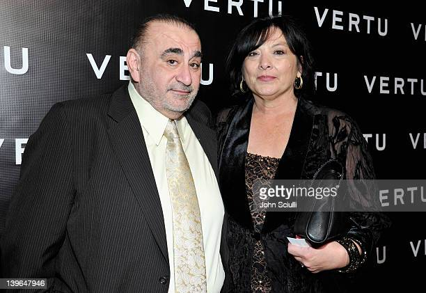 Actor Ken Davitian and Ellen Davitian arrive at Vertu and Gelila and Wolfgang Puck Celebrate the Oscars and Dream for Africa Foundation at CUT on...