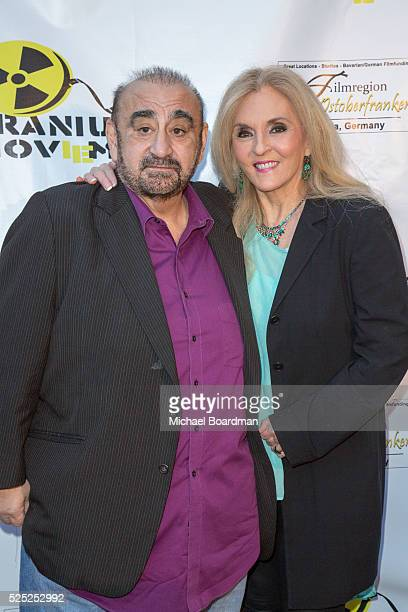 """Actor Ken Davitian and guest attend """"The Man Who Saved The World"""" premiere during the Atomic Age Cinema Fest at Raleigh Studios on April 27, 2016 in..."""