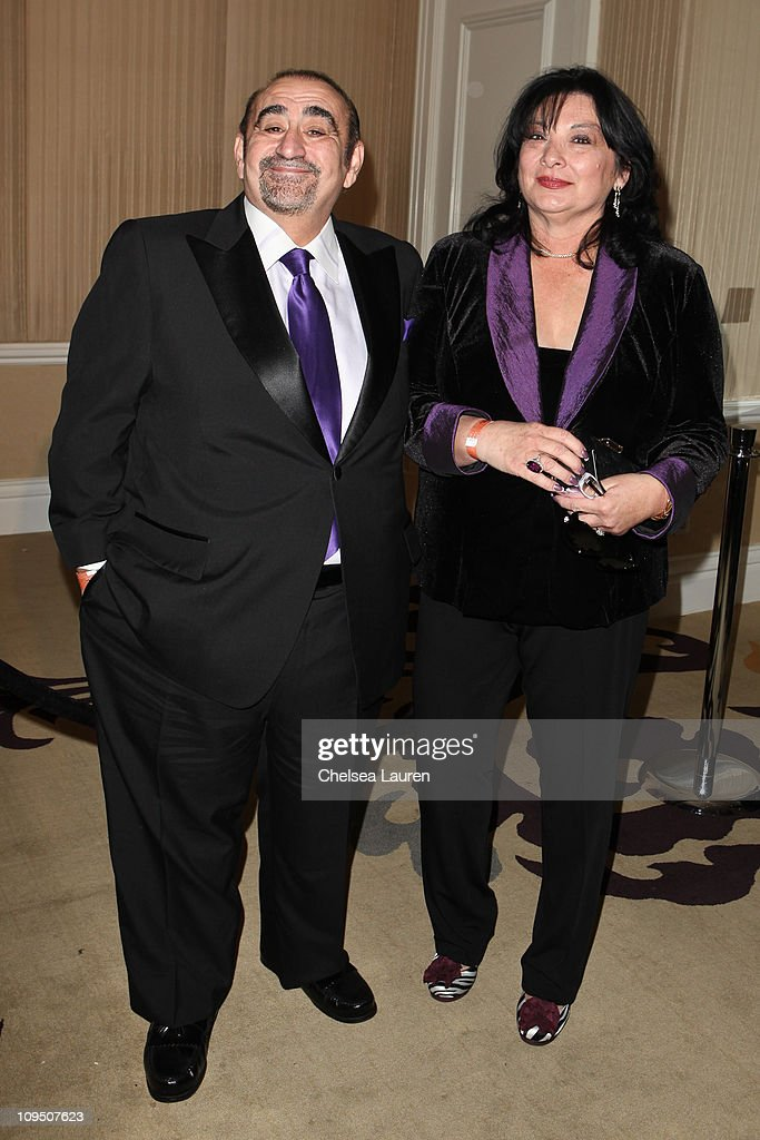 Actor Ken Davitian (L) arrives at the 21st Annual Night of 100 Stars Awards Gala at Beverly Hills Hotel on February 27, 2011 in Beverly Hills, California.