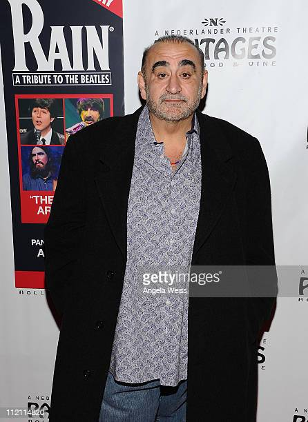 Actor Ken Davitian arrives at the opening night of 'Rain A Tribute To The Beatles' at the Pantages Theatre on April 12 2011 in Hollywood California