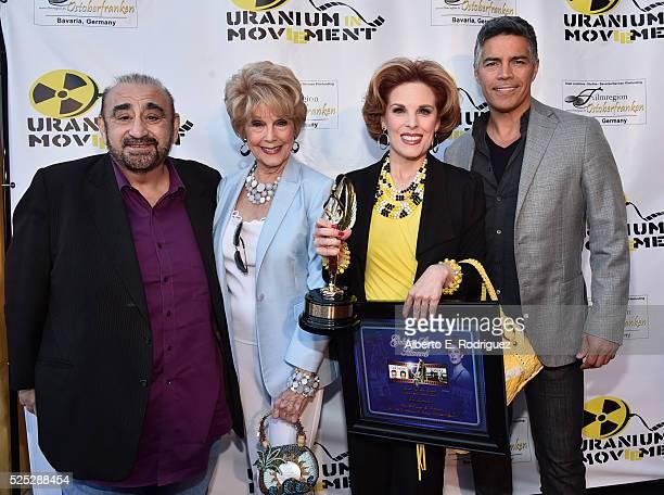 Actor Ken Davitian producer Karen SharpeKramer actress Kat Kramer and actor Esai Morales attend the Atomic Age Cinema Fest Premiere of The Man Who...